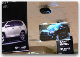 Digital Banner at Toyota Car Dealership