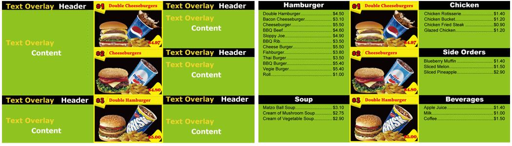Digital Menu Board Digital Posters Digital Advertising Solution - Menu board design templates