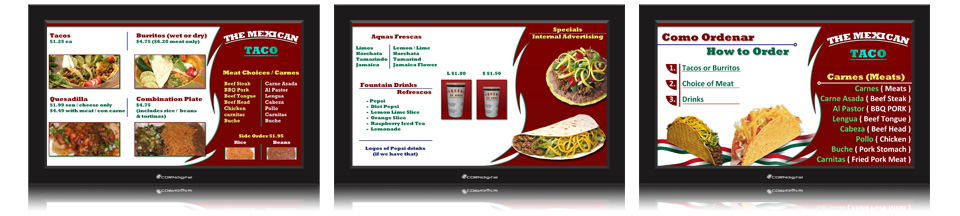 Corndigital digital menu board templates digital menu board design 12 maxwellsz